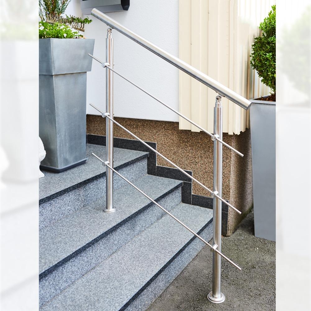 stainless steel stair handrail