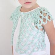 Crochet Baby quần áo cô gái áo len Shrug áo sơ mi