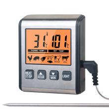 Pantalla grande del termómetro digital seguro de la parrilla del horno de microondas