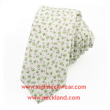 Cravate florale chinoise imprimée en coton