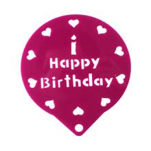 Pochoir de pulvérisation de décoration de gâteau d'anniversaire