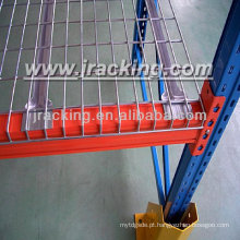 Prateleira de fio de metal de decks de malha de armazém Jracking
