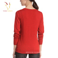 Ladies Fashion Wool Cashmere Sweater Pullover with Decoration