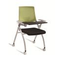 Venta caliente cuatro patas silla de formación de oficina con almohadilla de escritura