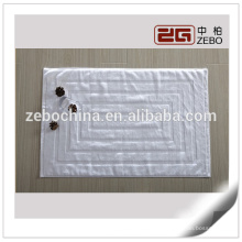 100% Baumwolle Custom Hotel Badezimmer verwendet Jacquard-Stil Weiß Badematte