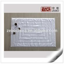100% algodón personalizado cuarto de baño del hotel usado jacquard estilo blanco mat
