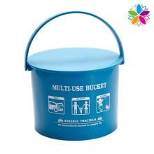Ronda cubo de almacenamiento de plástico con mango (SLT001)