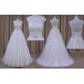 Shiny Custom Lace up Wedding Dress