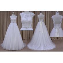 Robes de fille de fleur blanche pour mariage