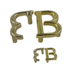 """Letter """"Bb"""" Gold Metal Tag for Handbag"""