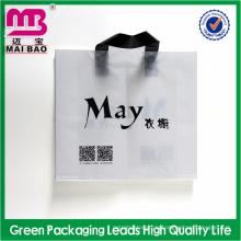modische stil weichen schleife griff plastiktasche für verpackung anzüge