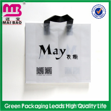 fashionable style soft loop handle plastic bag for packing suits