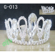 New fashion Queen crown Trendy wedding crystal Glitter Silver Tiara jewelry