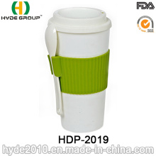 Insulated Practical Plastic Coffee Cup with Spoon (HDP-2019)