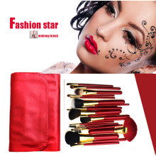 Red Series Beauty Equipments Red Handle Red Hair Makeup Brushes