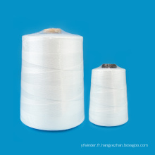 Pour machine à coudre de sac de riz 25kg 50kg sac de riz 20/9 fil de polyester filé