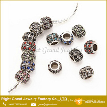 Hot Sale European Style Crystal Charm Metal Beads Jewelry