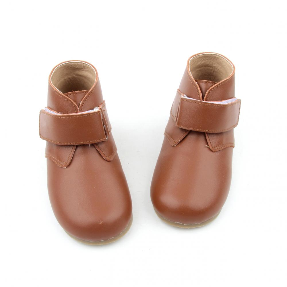 Fashion Leather Winter Buckle Children Boy Ankle Boots