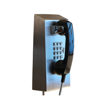 vandal resistant armored phone constructed of 14-gauge stainless steel cord
