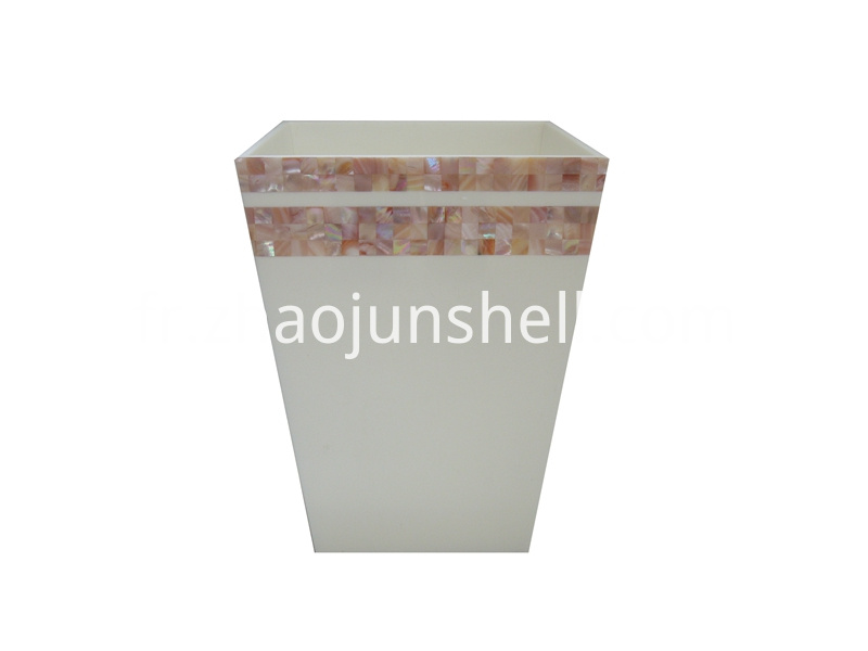 pink shell dustbin