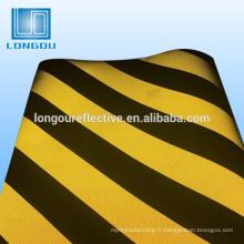 3 bandes de barricades réfléchissantes noires et jaunes
