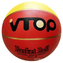 Red Color High Quality with Golden Line Basketball