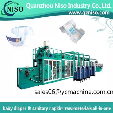 Economy Baby Diaper Machine Protection-Leakage Normal Diaper Machine