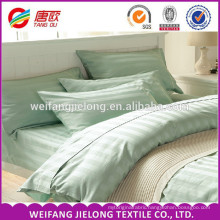 Luxury bedding sets 100% combed cotton 3cm Satin stripe Good Price Home Beddings, 100% cotton satin stripe fabric bed sheet