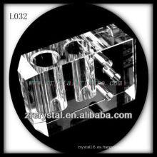 doble agujero Jarrón de cristal