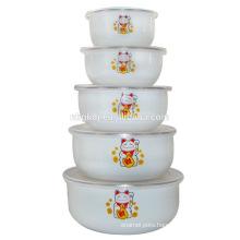 5PCs porcelain enamel home decor ice bowl