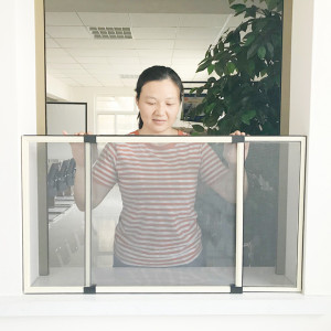 Insect protection sliding mosquito fly screen window