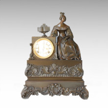 Clock Statue Senhora Book Bell Bronze Sculpture Tpc-022