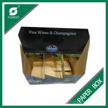 Boîtes de bouteilles de vin de six coutume d'usine