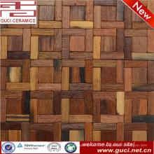 El diseño caliente cuadrado del producto mezcló la teja de mosaico de madera sólida para la pared