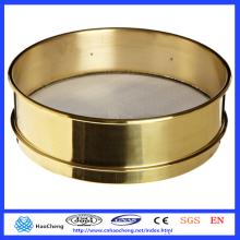 Tamiz de prueba de laboratorio estándar de acero inoxidable / latón