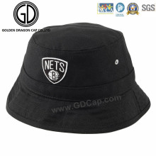 New Fashion Black Cool Cotton Balde Hat with Embroidery Logo