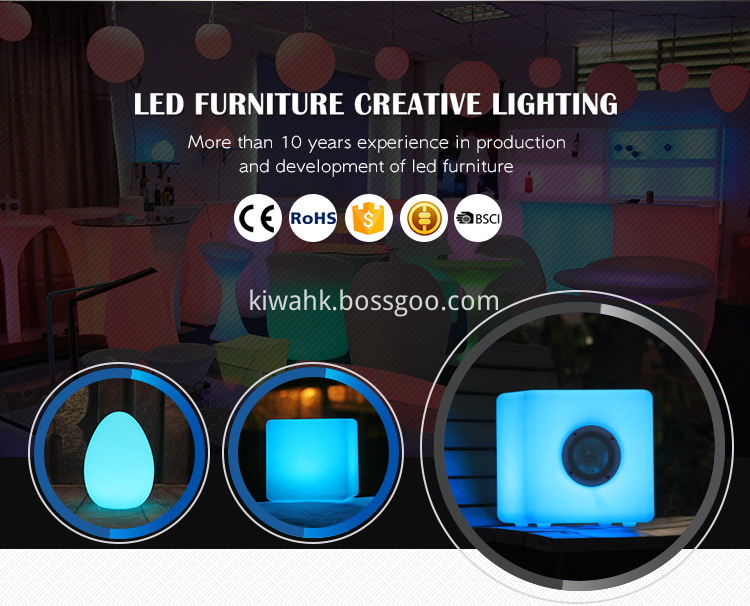 Plastic Illumination Glowing Led Table