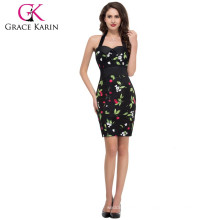 $9.9USD Grace Karin New arrival Sexy Halter Knee Length Popular Retro Dresses CL4590-1#