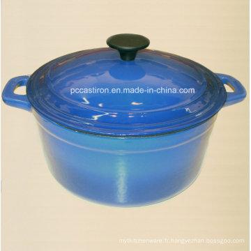 Rond en fonte de casserole Vaisselle avec revêtement émaillé