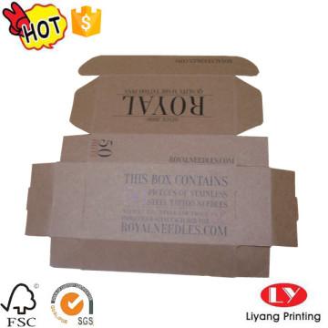 Cheap caja de embalaje plegable de una pieza kraft
