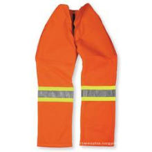 Orange Polyester/Cotton Pant with Reflective Tape