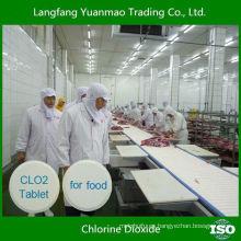 Tableta de dióxido de cloro desinfectante de alta eficiencia para la línea de procesamiento de alimentos