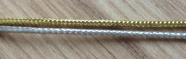 Cheap silver metallic elastic cord