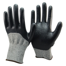 NMSAFETY high cut protectionn HPPE cut 5 gloves