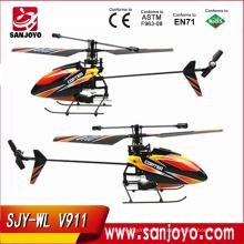 helicóptero wltoys v911 helicóptero 2.4G 4CH sola cuchilla Gyro RC MINI exterior r / c con LCD y 2 baterías v911 helicóptero