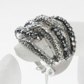 Exquisite Gold LOVE RING,Insert Clear Rhinestone Ring Excellent quality Romantic Wedding Bands rings