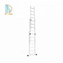 Escaleras de extensión combinadas de aluminio de 3 secciones 3 * 11 pasos