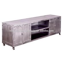 Support de téléviseur à 4 portes métallisé industriel