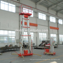 Aluminium hydraulic double mast man lift with CE