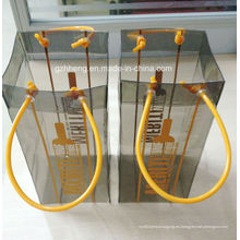 Bolso plástico del PVC de la impresión caliente para el vino (bolso del vino)